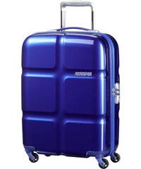 Skořepinový kabinový kufr American Tourister Supersize spinner 55 cm 01G-001 - tmavě modrá