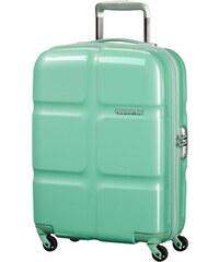 Skořepinový kabinový kufr American Tourister Supersize spinner 55 cm 01G-001 - mentolově zelená