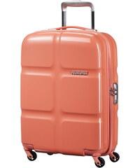 Skořepinový kabinový kufr American Tourister Supersize spinner 55 cm - korálová