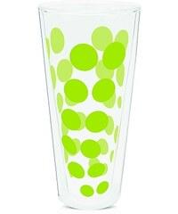 ZAK! designs - Dot dot dvoustěnná sklenice, varné sklo 35 cl, zelená (0989-N310)