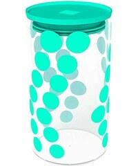ZAK! designs - Dot dot dóza L 1,1 l, varné sklo/PP, modrá (1783-870)