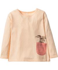 bpc bonprix collection Langarmshirt mit Tasche, Gr. 80/86-128/134 in orange für Mädchen von bonprix
