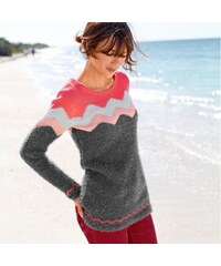 Colors & co Blancheporte Pull col rond jacquard maille douceur