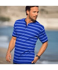 Blancheporte T-shirt col tunisien rayé
