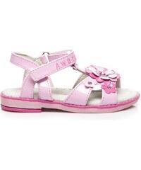 AWARDS Pohodlné růžové sandálky s květy