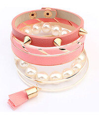 Lesara 6-teiliges Damen-Armband-Set - Rosa