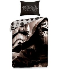 Halantex Dětské oboustranné povlečení Star Wars, 140x200 cm - černo-bílé