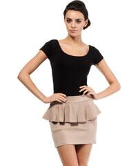 Béžová sukně MOE 016