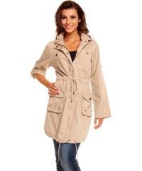 Luxusní lehký kabátek My Collection - béžový