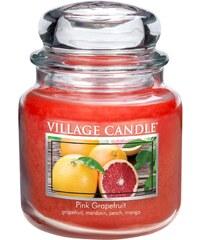 Village Candle Svíčka ve skle Pink Grapefruit - střední