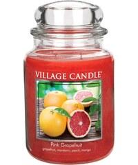Village Candle Svíčka ve skle Pink Grapefruit - velká