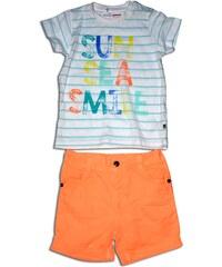 Minoti Chlapecký set - tričko a kraťasy SURF 1 - bílo-oranžový