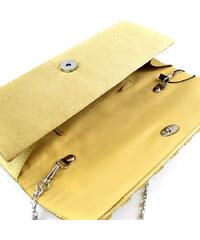 Lesara Clutch mit Strass-Muster - Gold