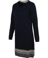 Modré šaty Brakeburn Fairisle Hem Dress