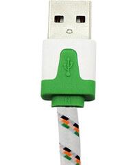 """Lesara Textil-USB-Kabel für iPhone 4"""". - Weiß"""