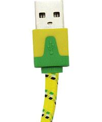 """Lesara Textil-USB-Kabel für iPhone 4"""". - Gelb"""