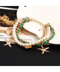 Lesara Charms-Armband mit Perlen - Grün