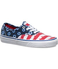Vans Authentic dyed dots stripes blue/red