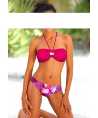 Plavky levně, značkové plavky BAMBOLA s ozdobným kamenem 38 pink B
