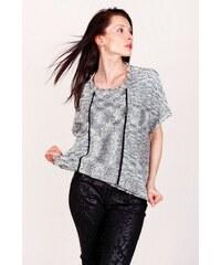 SAM 73 Dámský melírovaný maxi pulover SVWS16_02 gray - šedá