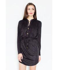 Figl Černé šaty M454