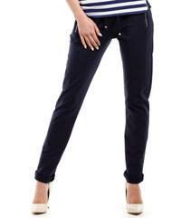 Tmavě modré teplákové kalhoty MOE 208