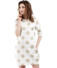 Smetanové šaty MOE 209