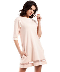 Broskvové šaty MOE 219