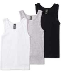 C&A 3er Pack Singlets aus Bio-Baumwolle in weiß