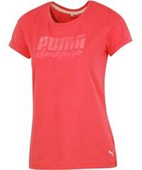 Puma Bavlněné vypasované tričko růžová M
