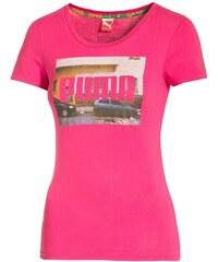 Puma Vypasované bavlněné tričko růžová XS