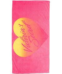 Plážová osuška Victoria´s Secret heart pink 185 x 90