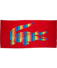 Plážová osuška Lacoste rainbow red 180 x 90