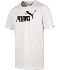 Puma Bavlněné tričko s logem bílá S