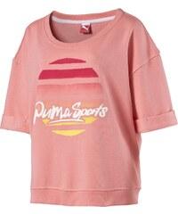 Puma Tričko Varsity z bavlny růžová M