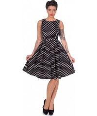 Dolly and Dotty retro šaty Lola s puntíky, černé