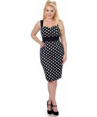 Dolly and Dotty pouzdrové šaty Thelma, černé s puntíky