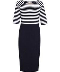 LindyBop pouzdrové šaty Sylvie, tmavě modré s pruhy