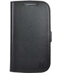The Kase Coque clapet avec pochettes CB pour Samsung Ace 4 G357 - noir