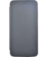 The Kase Coque clapet pour Samsung Galaxy S6 Edge - noir