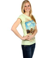 TopMode Letní tričko s módním potiskem zelená