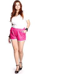 Lesara Shorts mit Spitze - Rot - 46