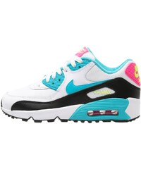 Nike Sportswear AIR MAX 90 Sneaker low white/gamma blue/pink blast/ghost green