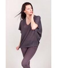 SAM 73 Dámský svetr s netopýřími rukávy SVWS16_03 gray - šedá
