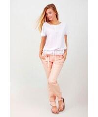 SAM 73 Dámské volné kalhoty s vázačkou PAWS16_15 pink - růžová