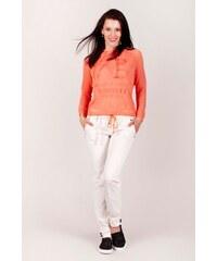 SAM 73 Dámské volné kalhoty s vázačkou PAWS16_15 white - bílá