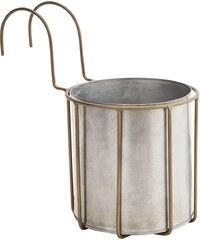 Madam Stoltz Závěsný zinkový květináč Antique Copper