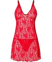 BODYFLIRT Krajkové šaty + kalhotky string (2dílná souprava) bonprix