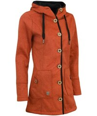 Kabát jarní dámský Woox Woolshell Ladies  Button Orange d3e23c94a87