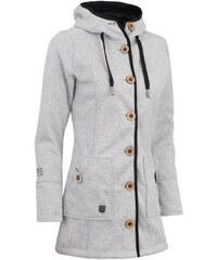 Podzimní kabát dámský Woox Woolshell Ladies' Button Grey